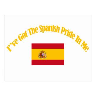 spanish patriotic flag designs postcard