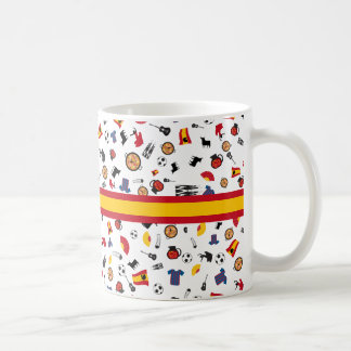 Spanish pattern with all famous Spanish stereotype Coffee Mug