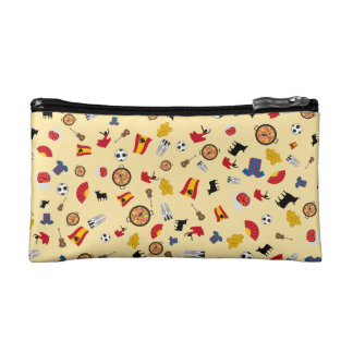 Spanish pattern with all famous Spanish stereotype Makeup Bag