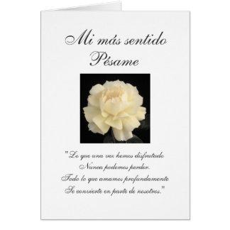 Spanish Sympathy Cards Zazzle