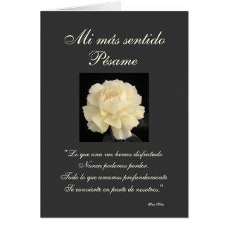 Spanish: Pesame B&W sympathy card