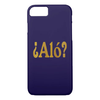 Spanish Phone Greetings in Gold 2 iPhone 7 Case