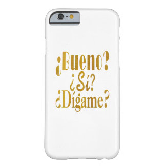 Spanish Phone Greetings in Gold Barely There iPhone 6 Case