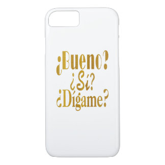 Spanish Phone Greetings in Gold iPhone 8/7 Case