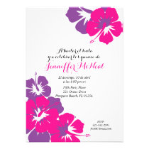 spanish pink purple QUINCEANERA LUAU birthday Card