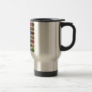 Spanish plates of vintage beer 15 oz stainless steel travel mug
