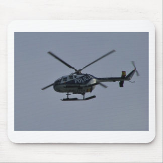 Spanish Police Helicopter Mouse Pad