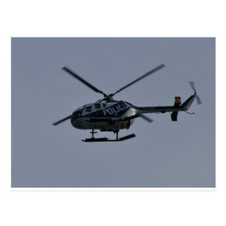 Spanish Police Helicopter Postcard
