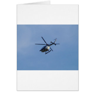 Spanish Police Messerschmitt Helicopter Greeting Card