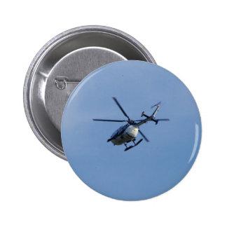Spanish Police Messerschmitt Helicopter Pinback Button