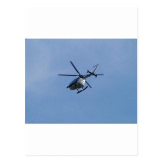 Spanish Police Messerschmitt Helicopter Postcard