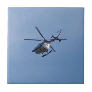 Spanish Police Messerschmitt Helicopter Small Square Tile