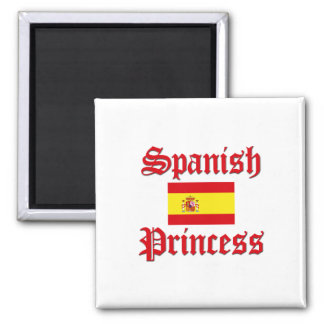 Spanish Princess 2 Inch Square Magnet