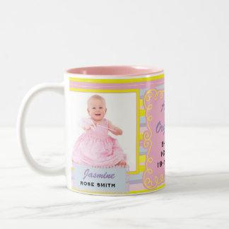 SPANISH Proud Grandmother | Baby Pink and Yellow Two-Tone Coffee Mug