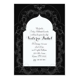 """spanish quince MOROCCAN quince invitation 5"""" X 7"""" Invitation Card"""