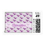 Spanish Quinceañera Pink Purple Hearts Stamp