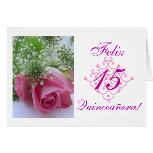 Spanish Quinceaera Rosa Stationery Note Card Zazzle
