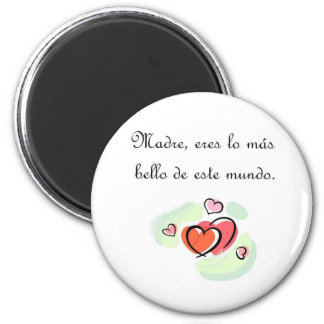 Spanish Quotes 2 Inch Round Magnet
