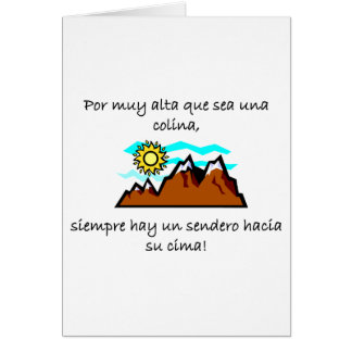 Spanish Quotes Card