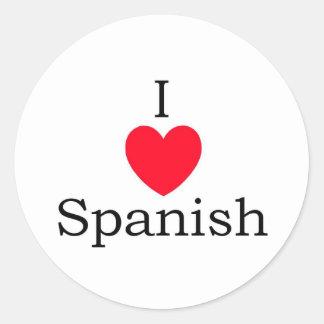 Spanish Quotes Classic Round Sticker