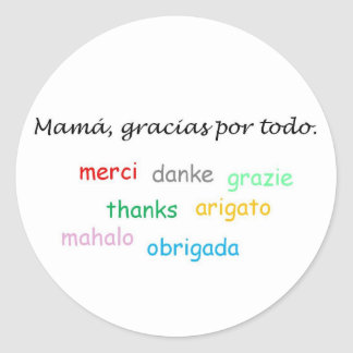 Spanish Quotes Classic Round Sticker