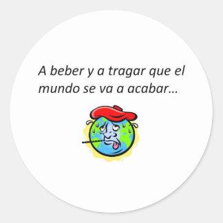 Spanish Quotes Round Sticker