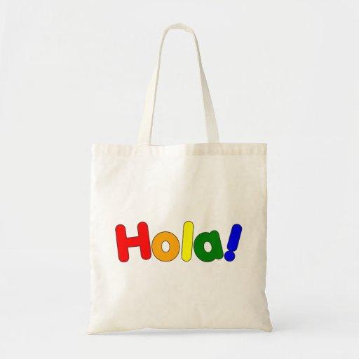 Spanish Rainbow Hello : Espanol Iris Hola Bags