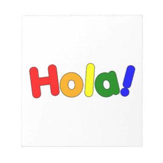 Spanish Rainbow Hello : Espanol Iris Hola Note Pad