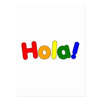 Spanish Rainbow Hello : Espanol Iris Hola Postcard
