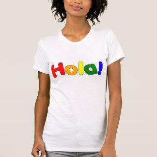 Spanish Rainbow Hello : Espanol Iris Hola Tees