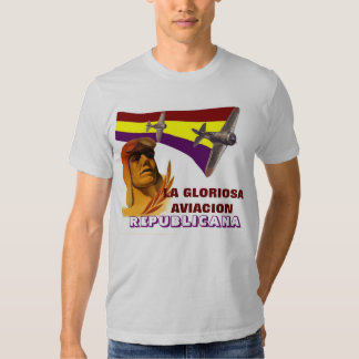 Spanish Republic Figther Pilot 1936 Tee Shirts