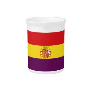 Spanish Republican Flag - Bandera República España Beverage Pitcher