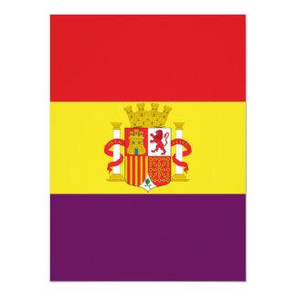 Spanish Republican Flag - Bandera República España Card