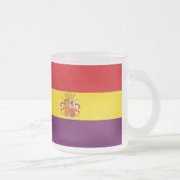 Spanish Republican Flag - Bandera República España Frosted Glass Coffee Mug
