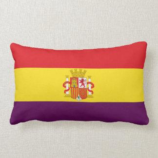 Spanish Republican Flag - Bandera República España Lumbar Pillow