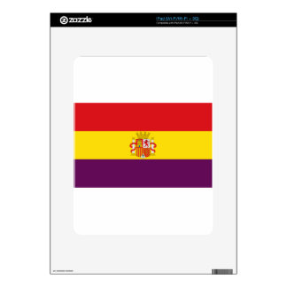 Spanish Republican Flag - Bandera República España Skins For iPad
