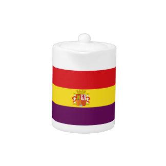 Spanish Republican Flag - Bandera República España Teapot