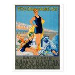 Spanish Resort Poster Postcard
