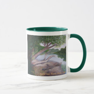 Spanish River Painting by S. Dunning Mug