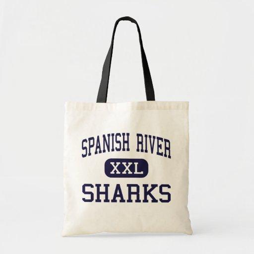 Spanish River - Sharks - High - Boca Raton Florida Budget Tote Bag