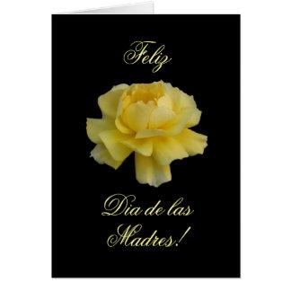 Spanish: Rosa amarilla para una mama/ Mother's day Card