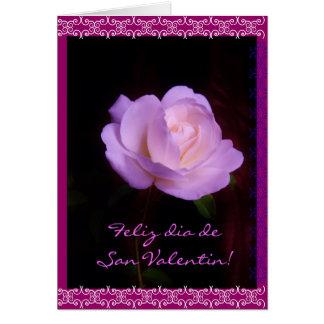 Spanish: rosa neon San Valentin / Valentine's day Card