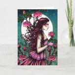 Spanish Rose Fantasy Maiden Fairy Art Card