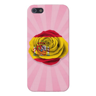 Spanish Rose Flag on Pink Cover For iPhone 5/5S