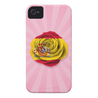 Spanish Rose Flag on Pink iPhone 4 Case