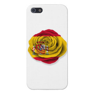 Spanish Rose Flag on White Covers For iPhone 5
