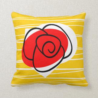 Spanish Rose pillow square