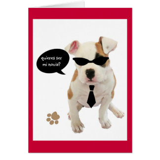 Spanish: San Valentin Hot pup Card