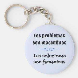 Spanish saying language learning keychain