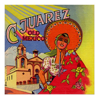 Spanish Senorita from Cuidad Juarez Poster